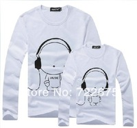 2013 Men's long sleeve shirt,cartoon shirt,Men T-Shirts,man tshirts, round neck T shirts, fashion O-neck t shirt ,M,L,XL,XXL,