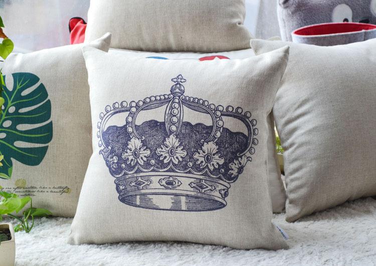 estilo de design da coroa do rei , almofada para inclinar-se de restaurar antigas formas travesseiros para decorar um sofá travesseiro cobrir novo 2014(China (Mainland))