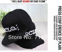 "Free shipping(6 pieces/pack) The adjustable hip-hop cap hat 55-58cm/baseball cap WITH LETTER""RCLQ"""