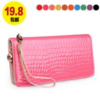 2013 female wallet female long zipper design fashion women's wallet small wallet