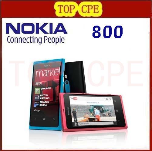Original Nokia lumia 800 Phones 8MP Camera GSM HSDPA WIFI GPS 16GB+512MB Storage Radio Unlocked Windows Mobile Phone(China (Mainland))