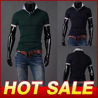 Spring Hot Sale Men's Short Sleeve Cotton T Shirt Fashion Design Sport T-shirts Male Top Brand Slim Fit Tshirt For Men X249