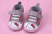 Baby shoes ! Baby girl cotton fabric shoes infant shoes fashion cartoon cat print heart prewalker  ETJ-X0161