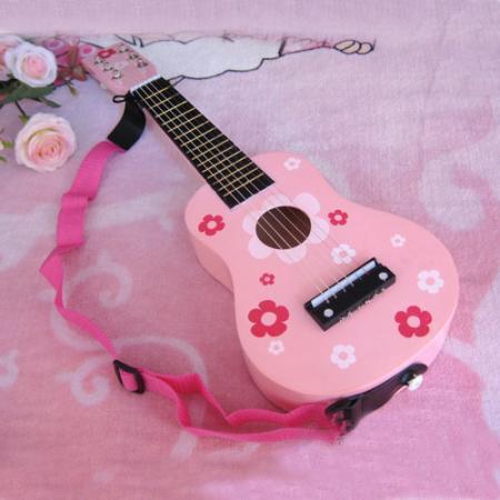 Nouvel enfant kid. 21 pouces. 6 chaîne pour enfants en bois jouet instrument de musique guitare jouable livraison gratuite