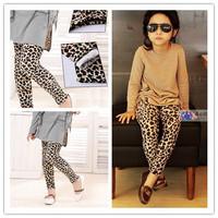 Free Shipping 2014 New Fashion Baby Girls Leopard Leggings Girls' Pants Kids Pants One Piece Retail