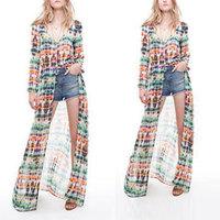 2014 Novelty Dress Summer European Fashion Women Clothes Brand Hawaii Bohemian Long Chiffon Maxi Dresses, Free Shipping MY227