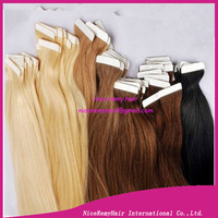 wholesale brazilian 26 inches tape human hair extensions  40pcs/pack  100g/pack  2packs/lot