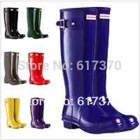 2014 Fashion Rain Boots Low Heels Waterproof Women Wellies Boots,Women Rainboots,Woman Water Shoes,Colorful Glossy and Matt