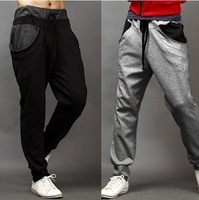 Men Pants New Arrival Real Cotton Trousers Youth Military 2014 Spring And Autumn Male Trend Of The Color Block Slim Harem Pants
