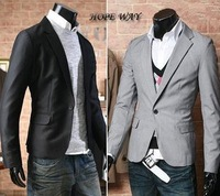 2013 Free Shiping autumn acetate Slim models suit korean version fashion jacket men's one button clothes two colors