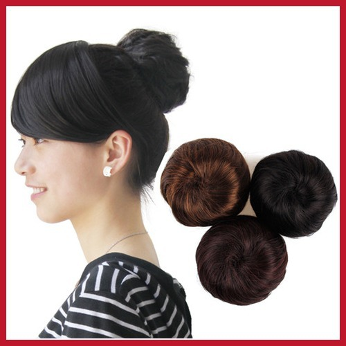 Affordable! bottomprice Ladies Women Fashion Clip-on Synthetic Elastic Contract Dish Hair Bun Tail Wigs Hot Bottom price!(China (Mainland))