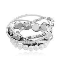 Sweet pearl many elements Women bracelet - in love