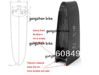 2014 New model,carbon wheel with titanium material 88mm deep clincher 23mm width 700C,more safe