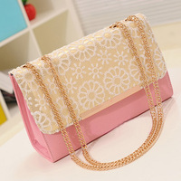 2013 women's bag lace chain bag small fresh messenger bag small bag women's handbag