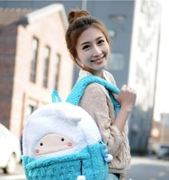 Ms. portablebackpack new fur bag plush bag with the influx of European and American retro package