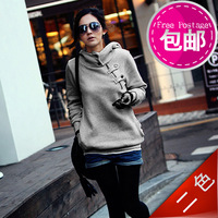 2014 New Arrive women casual hoodie sweatshirt lady loose pullover gray army green plus size XZS140085