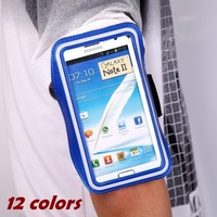Thin Jogging Running Cycling Sports Holder Belt Bag Gym Armband Case for Samsung Galaxy Note 2 3 III N7100 N9000