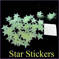 Free shipping noctilucent stars Home Wall Glow In The Dark Star Stickers Decal Baby Kids Gift Nursery Room 500pcs