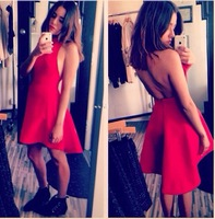 Free Shipping Fashion 2014 Fashion   BACKLESS DRESS Party dress   FT745