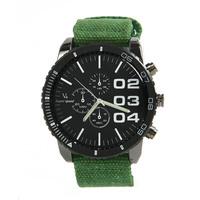 New Arrival High Quality V6 SUPER BIG DIAL Luxury Sport Men Wrist Watch Vintage Fabric Band Clock #L05555