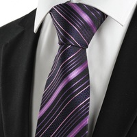 New 2014 Striped Blue Black Formal Business Men's Tie Necktie Wedding Holiday Gift   142