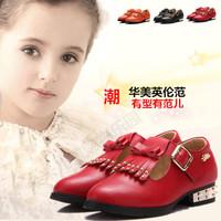 Fashion fashion leather tassel princess shoes elegant big boy shoes single shoes spring new arrival 2014