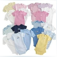 Wholesale,WPB0325,2014 Carter's baby clothes,Baby Rompers Body suits Jumping Beans baby clothes Infant Shortall cotton 5pc/lot