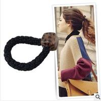 Classic 6pcs/lot DIY Retail ABS Square Hair Band White Leopard/Light Leopard/Dark Leopard Hair Rope Hair Accesosry