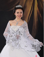 New plus size wedding wraps bolero lace winter dress bolero jacket  wraps ,LSM454