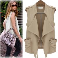 2013 autumn fashion denim small vest small vest thin sleeveless coat short jacket