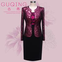 Guqing mother formal dress elegant set 5043