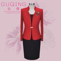 Mother formal dress brief elegant rich wedding woolen cashmere wool set 0153