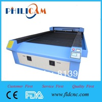 Hot sale, new design 80/100/130W Jinan PHILICAM Manufacture FLDJ1325 laser engraving with rotary attachment
