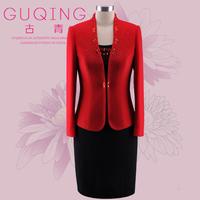 Guqing mother formal dress high quality wedding festive wool thermal set gq0133