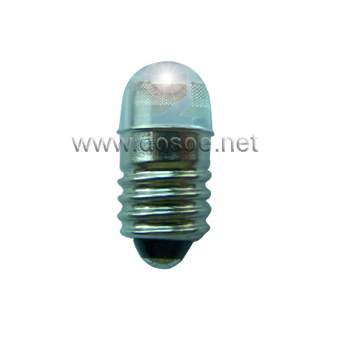 LED Replacement Bulb for D/C cell flashlight bulbs E10 base 0.5W 1-9V(China (Mainland))