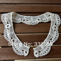 D967 clothes accessories beige water soluble embroidery lace  false collar diy sewing accessories 50*4cm