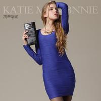 2014 spring and autumn fashion slim all-match basic slim hip one-piece dress