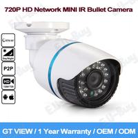 GT View Security CCTV 1280*720P 1.0MP Mini Bullet IP Camera ONVIF 2.0 Waterproof Outdoor IR CUT Night Vision P2P Plug and Play!