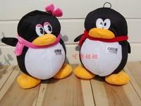 Lovely qq penguin doll a pair QQ toys QQ girl and QQ boy about 20cm cute doll
