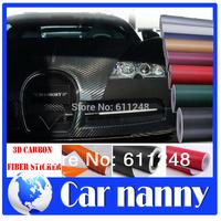 Car styling 3D carbon fiber car sticker, car body protection film, 15 colors,Car color change film, 127*30cm, 50*11.8 inch