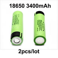 free shipping New Original 2pcs/ lot NCR18650B Rechargeable Li-ion battery 3.7V 3400mAh