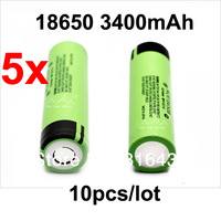 free shipping New Original 10pcs/ lot NCR18650B Rechargeable Li-ion battery 3.7V 3400mAh