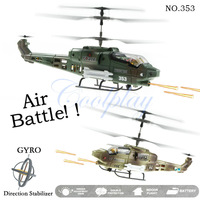 Free shipping  2 New JXD 353 Air Raptor Infrared RC Micro Battle Helicopter 3.5 Channel RTF