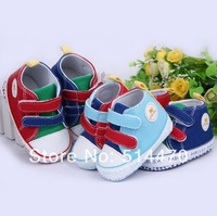 Free shipping hot babyboy girl shoes first walkers prewalker velcro soft-soled sneakers sport shoes 3color #0328 wholesale!