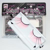 Make-up feather style pink lengthen false eyelashes stage makeup art winged eyelashes Free Shipping