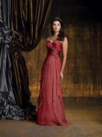 J0178 Elegant Chiffon Appliques Pleat Beads Ruffles long length dress beach mother of the bride2014Crystal Waistband Draped