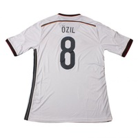 2014 Brazil World Cup Germany jerseys #8 OZIL Home Fans Version Embroidery Logo Futbol shirts soccer sport clothing