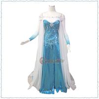 Custom Made Frozen Elsa Costume Dress Movie Cosplay Costume For Kids