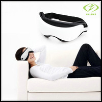 Free Shipping Eye Massager Mask Migraine DC Electric Care Forehead Preprogrammed Music USB Personal White Black Eye Care
