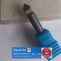 2pcs 6*90D*0.6mm PCD Tools, Flat bottom Router Bits for Stone, Hard Granite,Jade,Brick Free Shipping